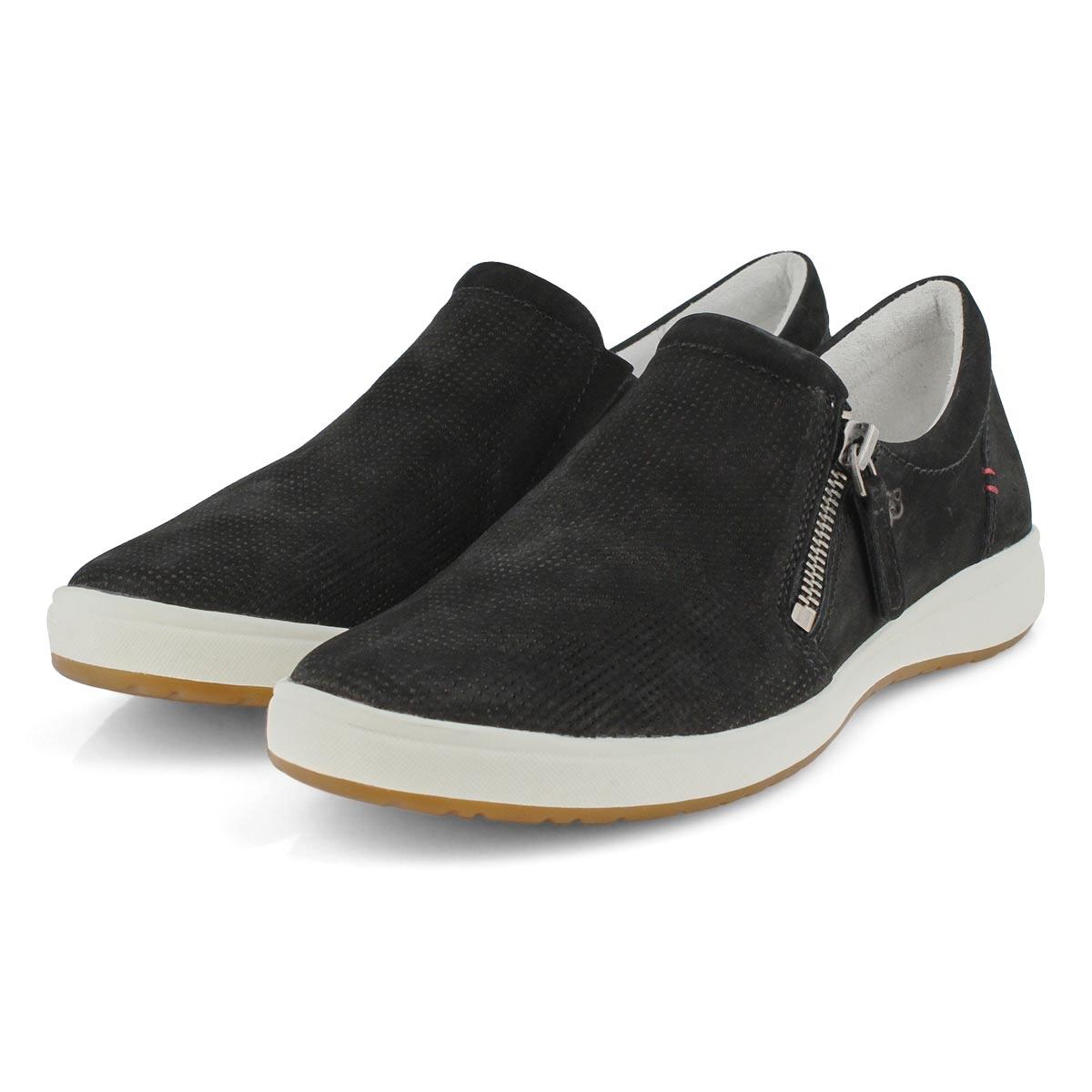 Lds Caren 22 black slip on sneaker