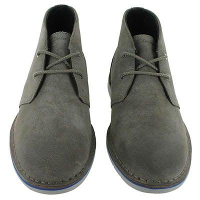 Clarks Men's SANDOVER HI grey suede casual chukka boots