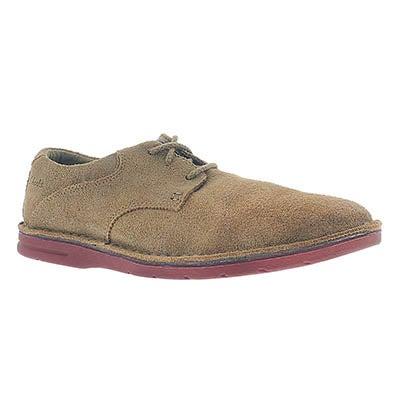 Clarks Men's SANDOVER WALK brown suede lace-up shoes