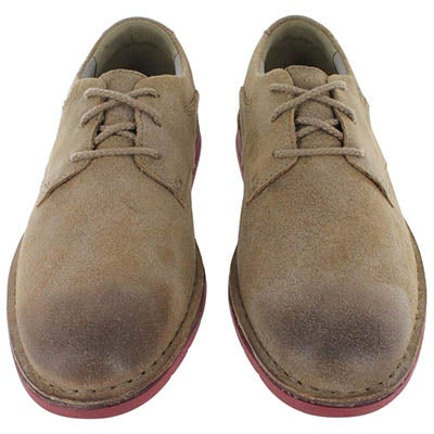 Clarks Men's SANDOVER WALK brown suede lace up shoes