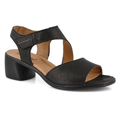 Lds Juna 02 black heel sandal