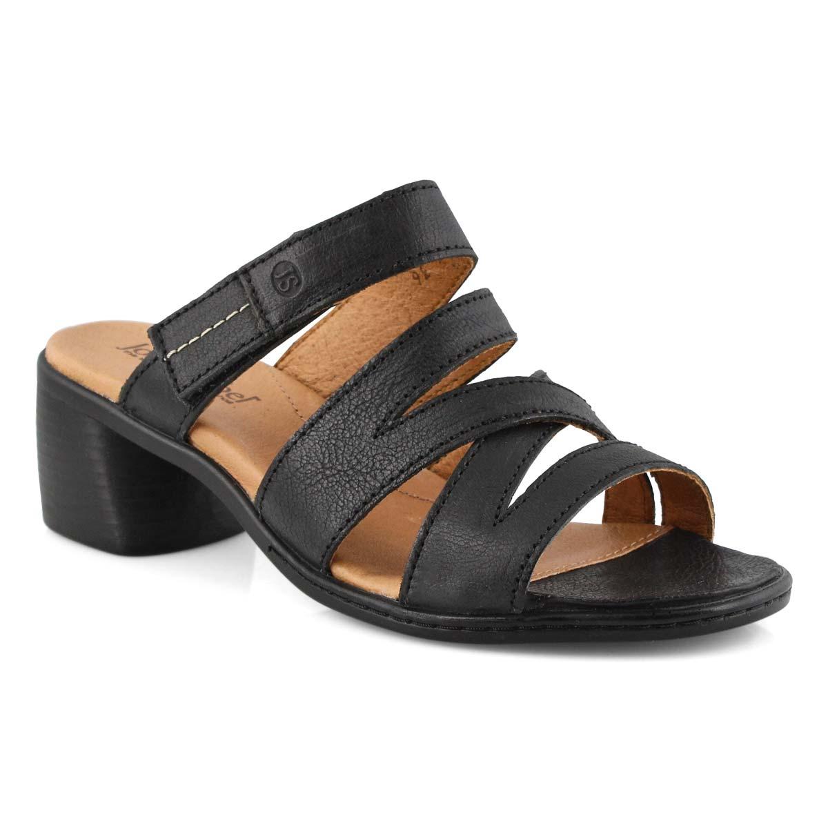 Lds Juna 04 black casual heel sandal