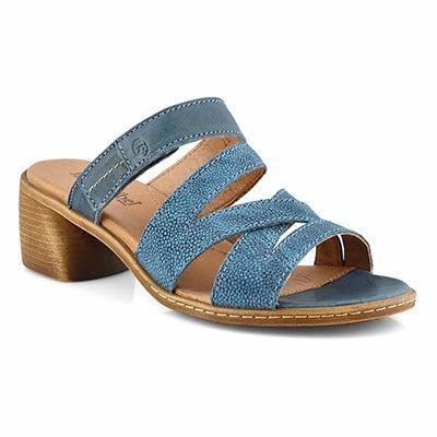 Lds Juna 04 blue casual heel sandal