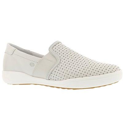 Lds Sina 15 white casual slip on shoe