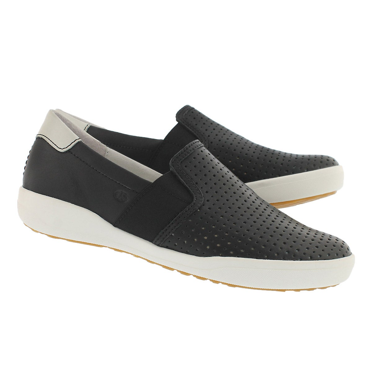 Lds Sina 15 black casual slip on shoe