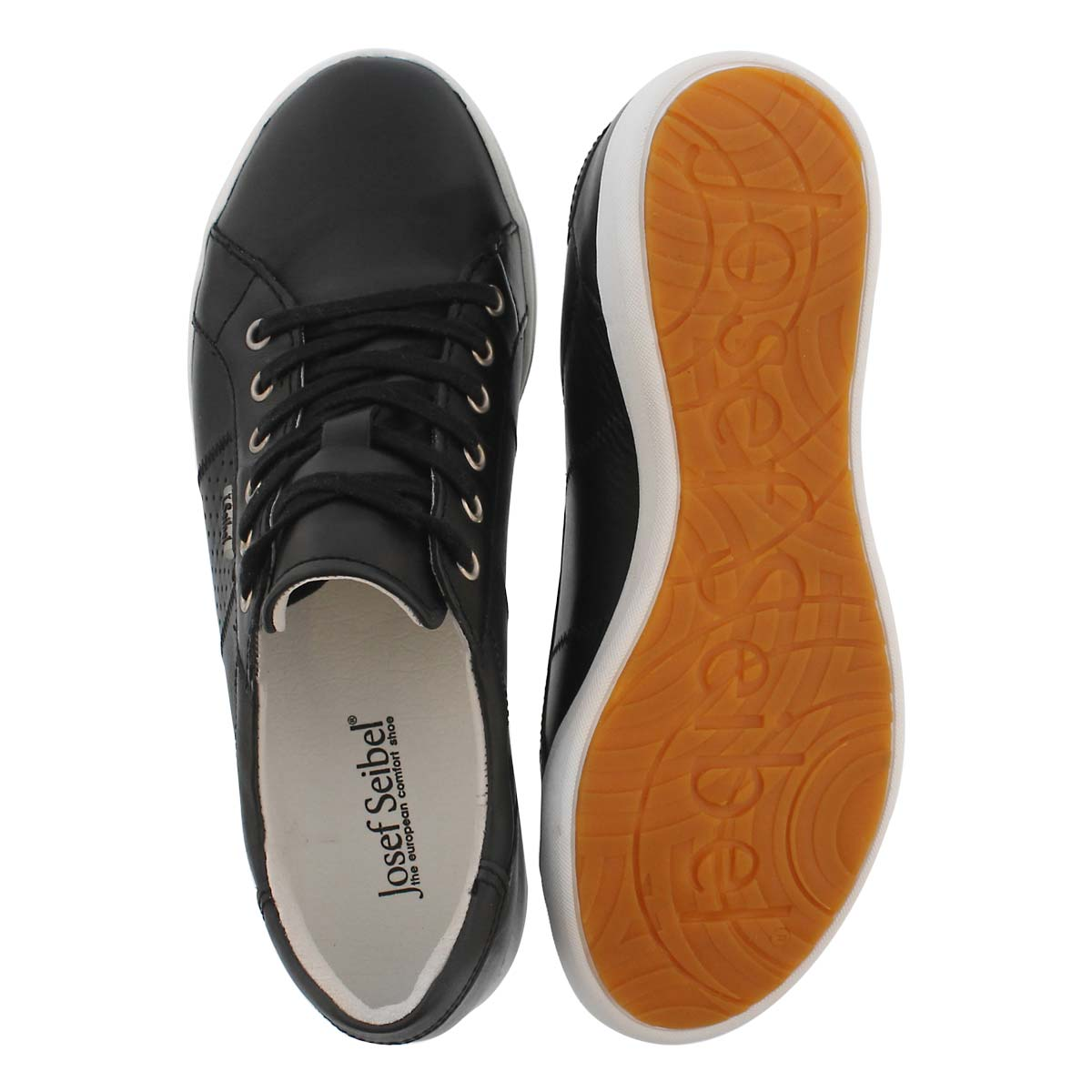 Lds Sina 41 schwarz lace up casual snkr