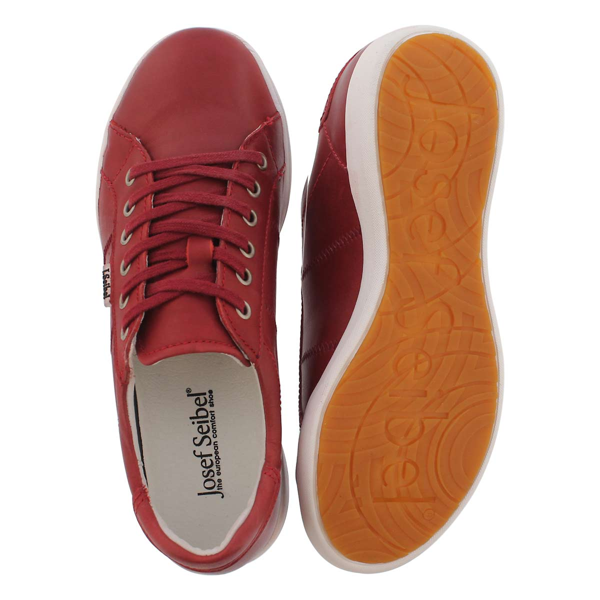 Lds Sina 41 rot lace up casual snkr