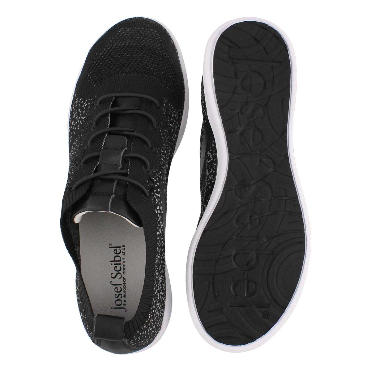 Lds Sina 43 black lace up sneaker