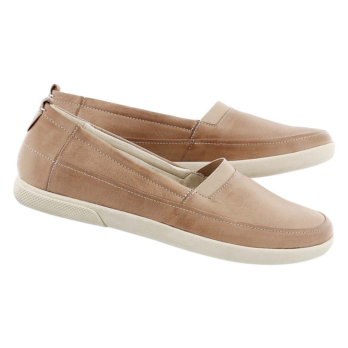 Lds Ciara 11 beige slip on casual shoe