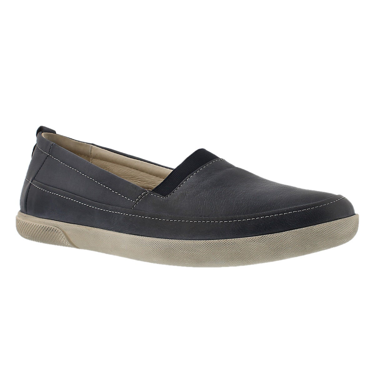 Lds Ciara 11 blue slip on casual shoe