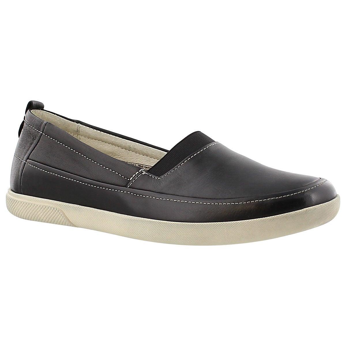 Lds Ciara 11 black slip on casual shoe