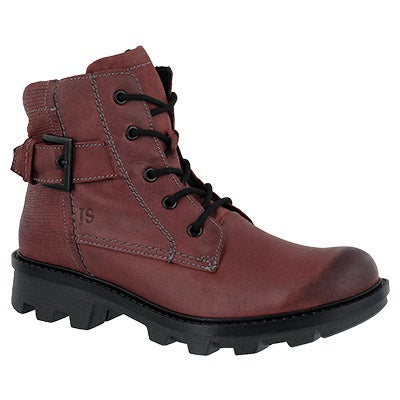 Lds Marilyn 03 bordo lace up boot