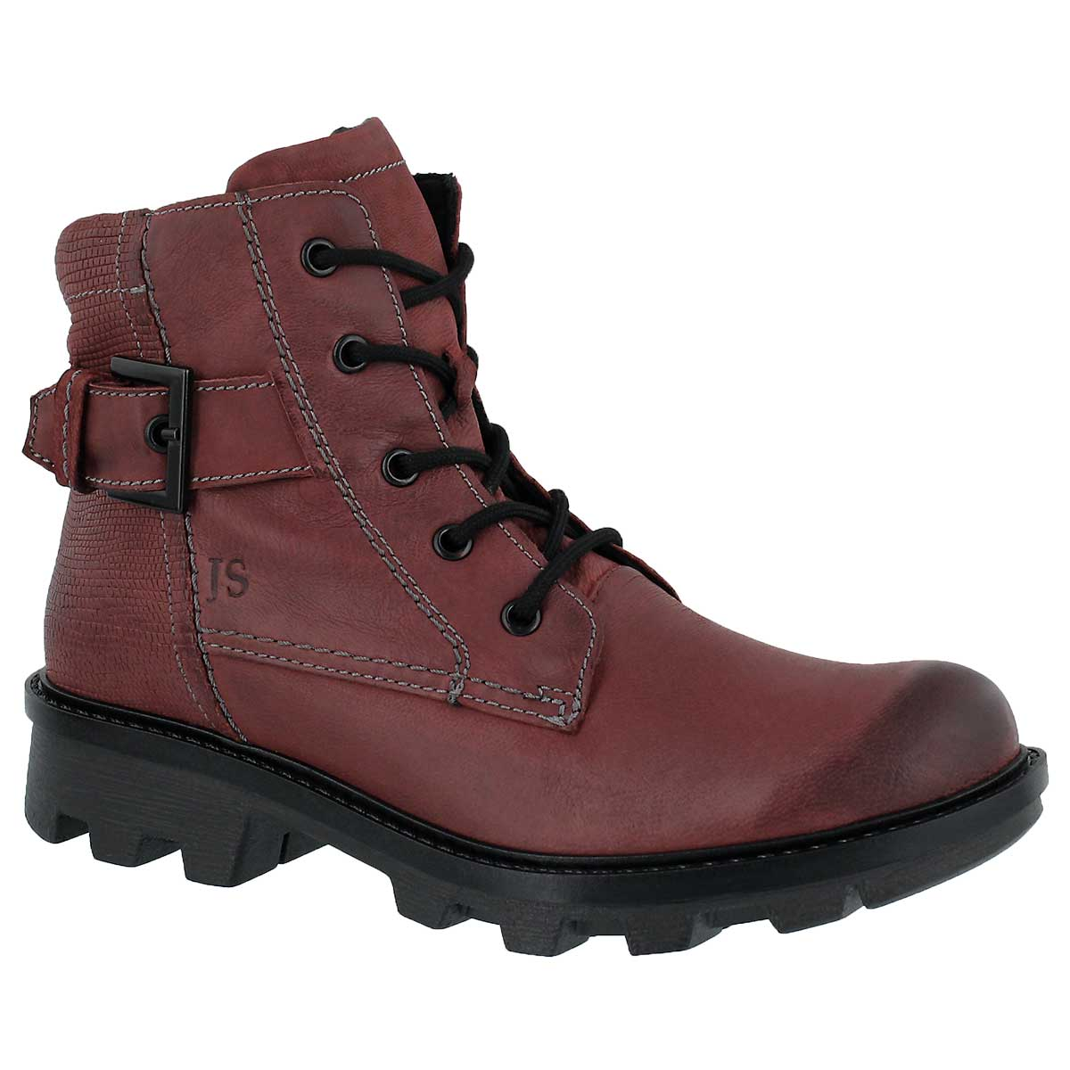 Women's MARILYN 03 bordo lace up boots