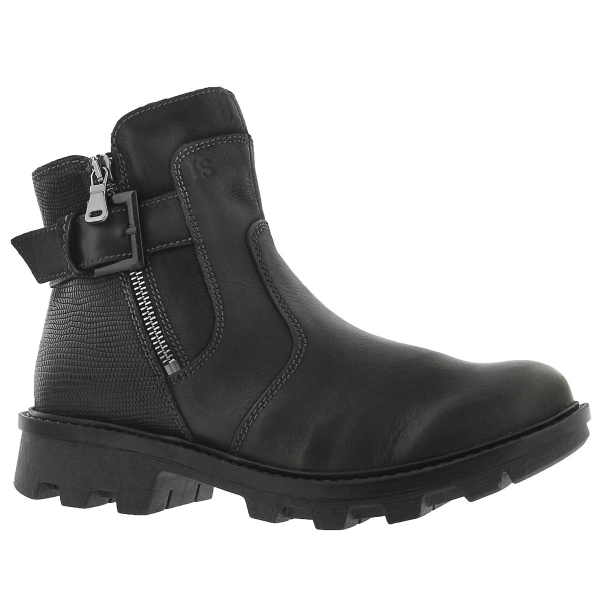 Women's MARILYN 05 schwarz side zip boots