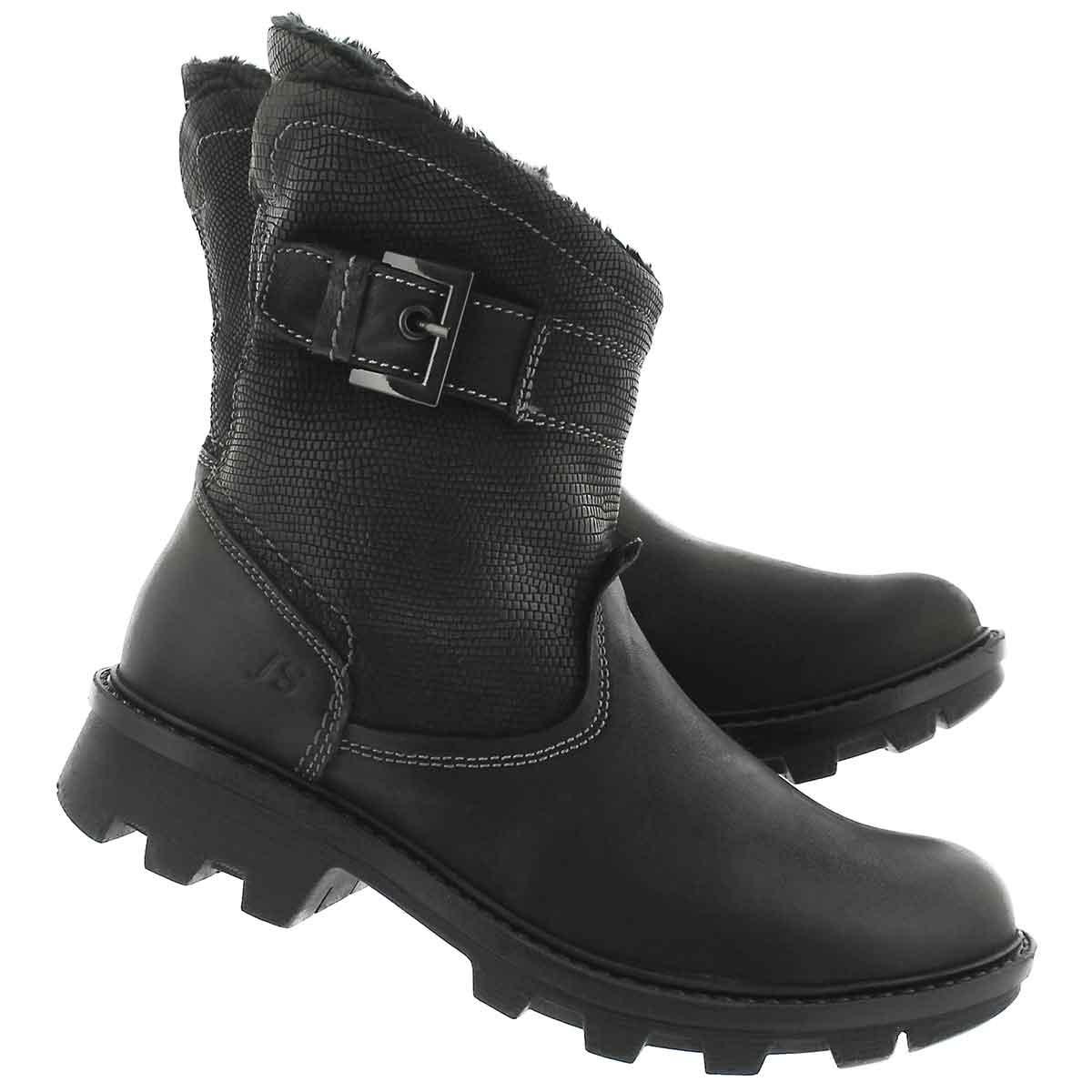 Lds Marilyn09 schwarz short midcalf boot