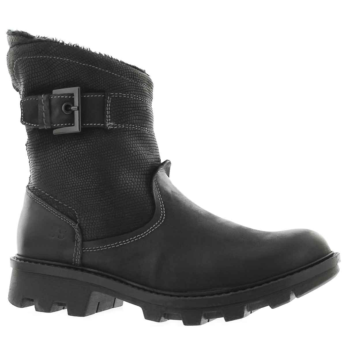 Women's MARILYN 09 schwarz short midcalf boots