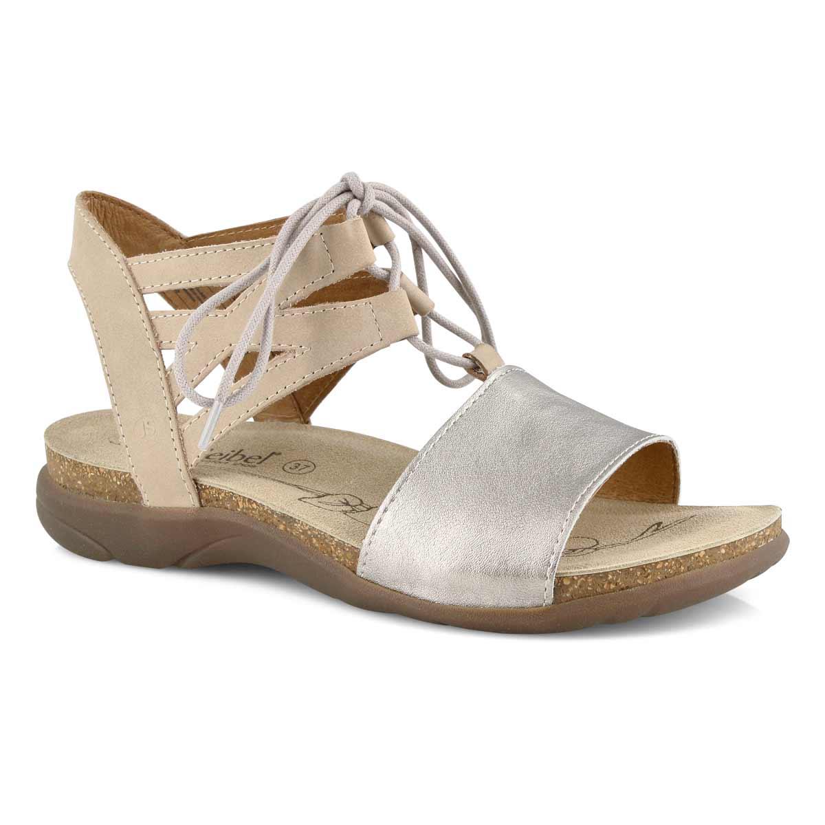 Lds Riley 06 beige lace up casual sandal