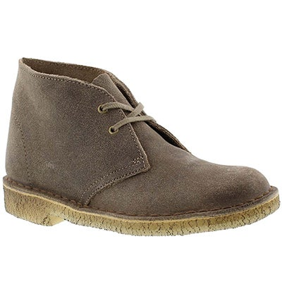 Clarks Women's ORIGINALS DESERT BOOT taupe chukkas