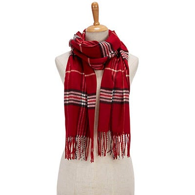 Fraas Women's FRAAS PLAID red scarves