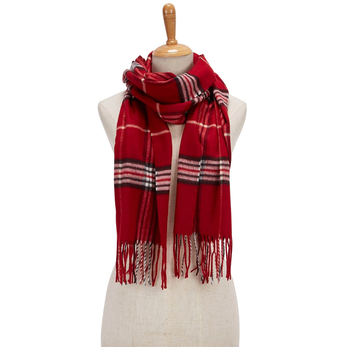 Lds Fraas Plaid red scarf