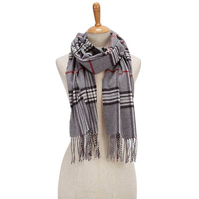 Fraas Women's FRAAS PLAID grey scarves