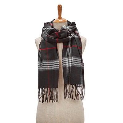 Lds Fraas Plaid black scarf