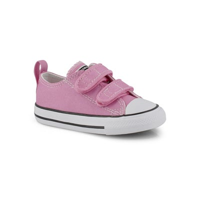 Converse Infants' CORE V2 OX  pink canvas sneakers
