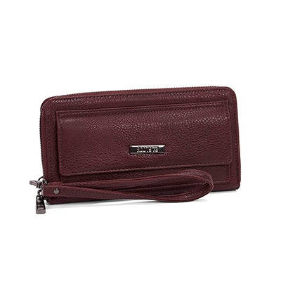 Lds Nightshade dark berry large wristlet