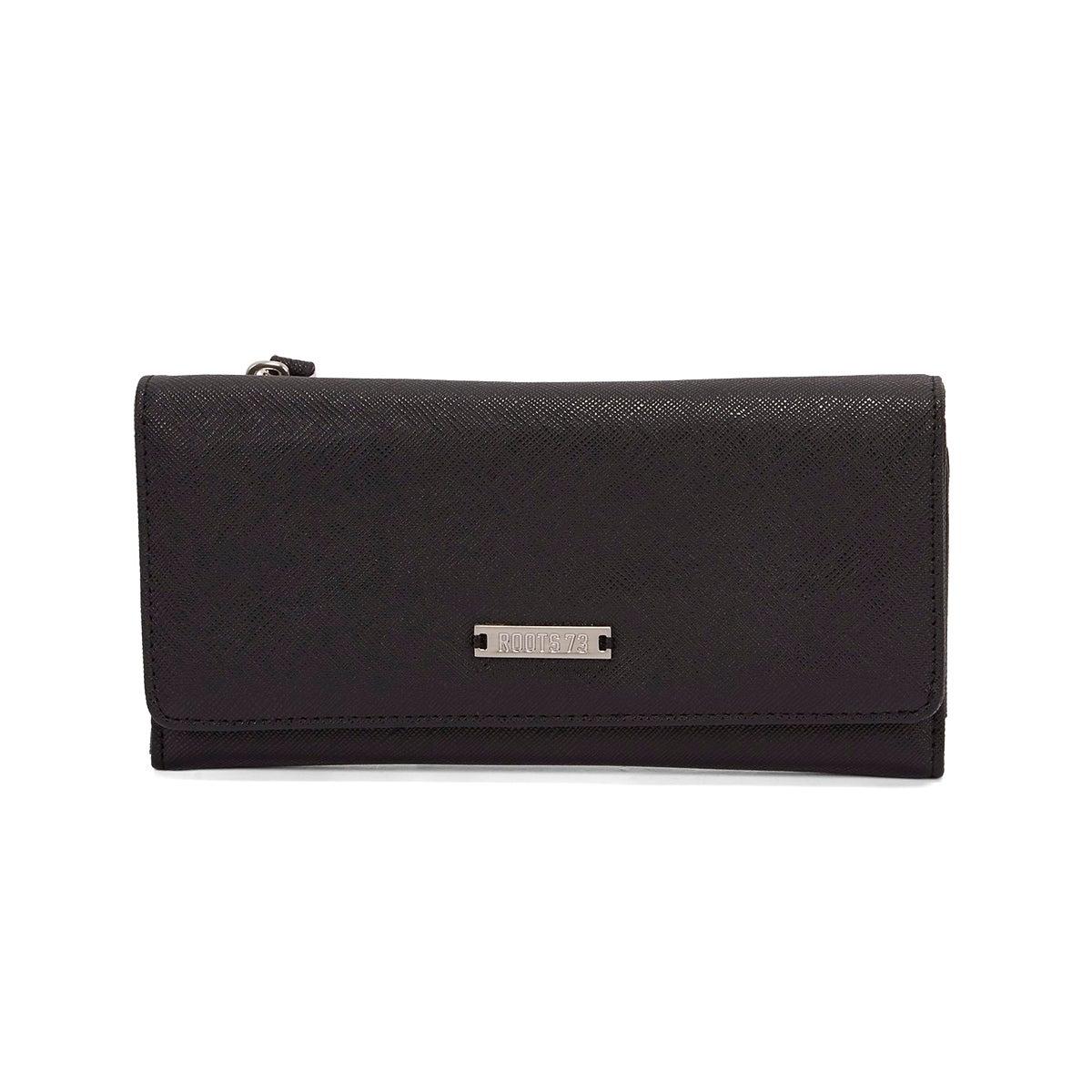 Lds Graphite black 3 fold large wallet