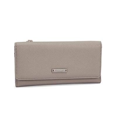 Lds Graphite grey 3 fold large wallet