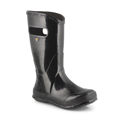 Kds Rain Boot Solid blk rain boot