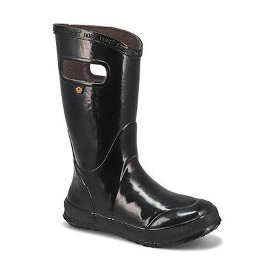 Bogs Bottes de pluie RAIN BOOT SOLID, noir, enfants