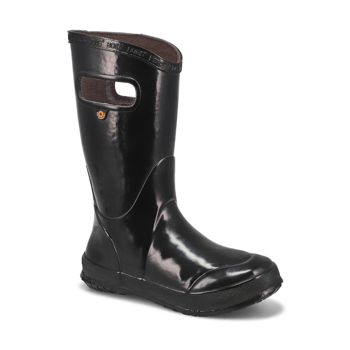 Kids' RAIN BOOT SOLID black rain boots