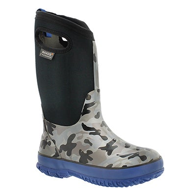 Bys Classic Camo tall blk winter boot