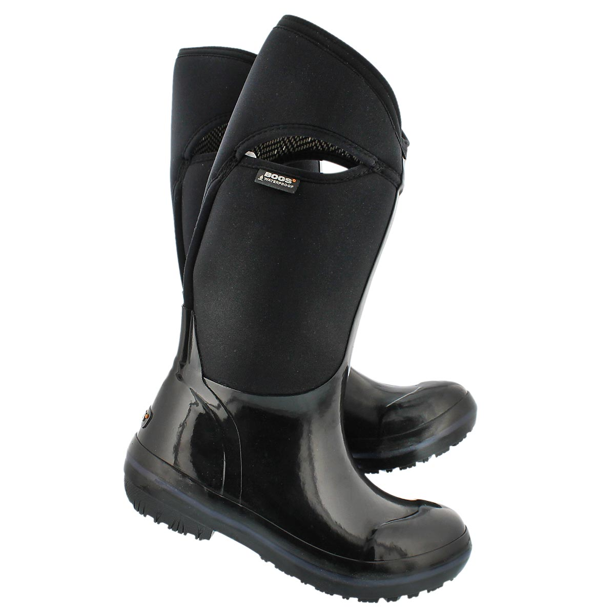 Lds Solid Tall black waterproof boot