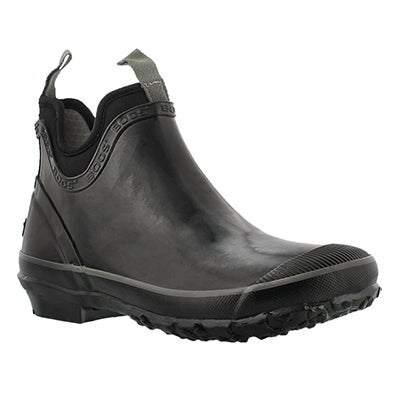 Lds Harper Solid black chelsea rain boot