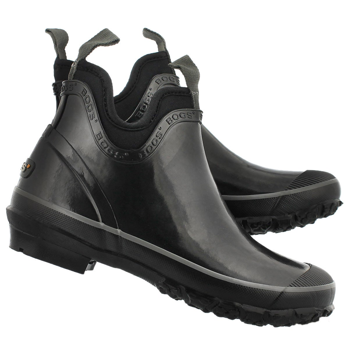 Lds Harper Solid black chelsea rain boot