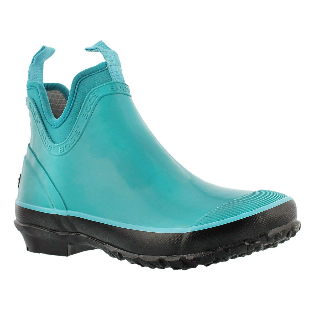 Lds Harper Solid teal chelsea rain boot