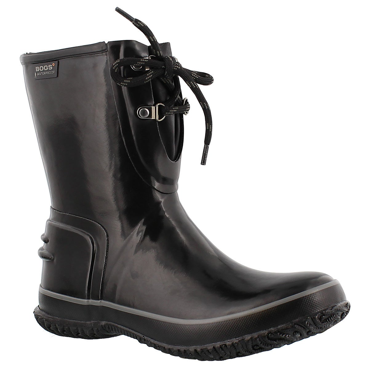 Lds UrbanFarmer 2Eye blk low rain boot