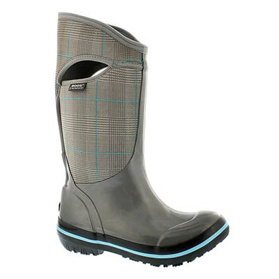 Bogs Women's PRINCE OF WALES TALL cha waterproof boots