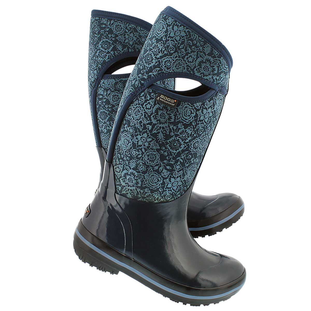 Lds Plims Quilted Floral ind wtpf boot