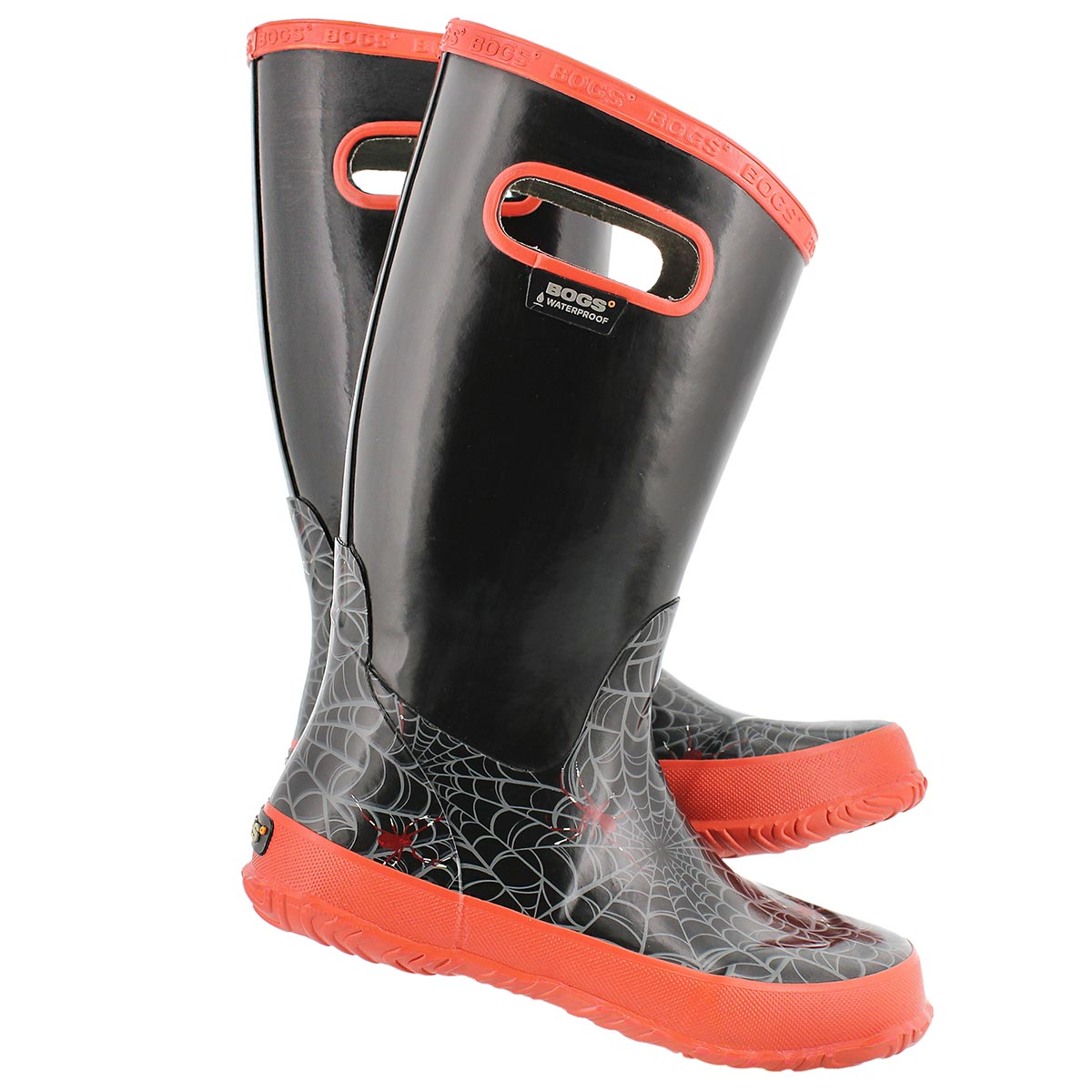 Bys Rainboot Spider black rain boot
