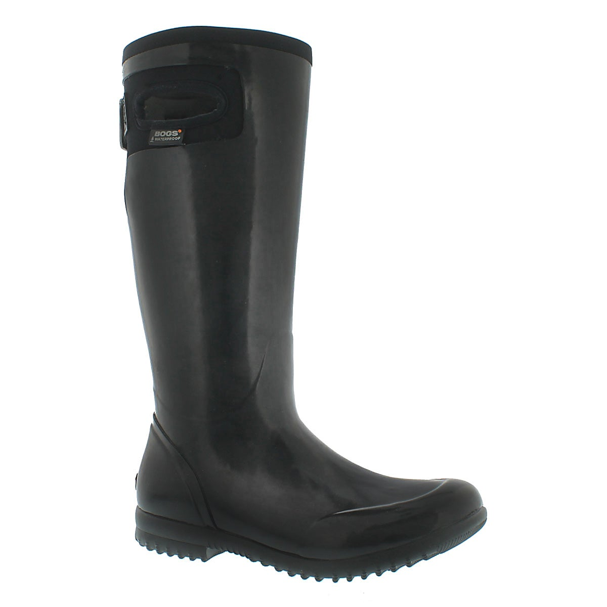 Lds Tacoma Solid Tall black rain boot
