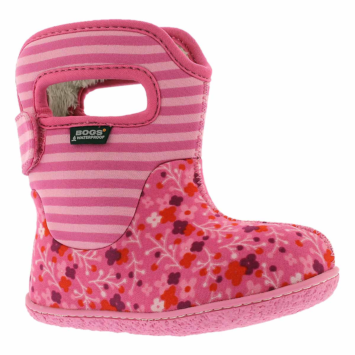 Infs Classic Flower Stripe pnk wntr boot