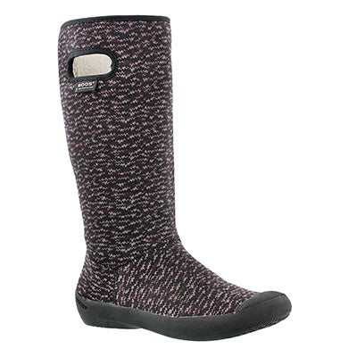 Lds Summit Knit blk wtpf winter boot