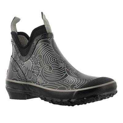 Bogs Women's HARPER BATIK black chelsea rain boots