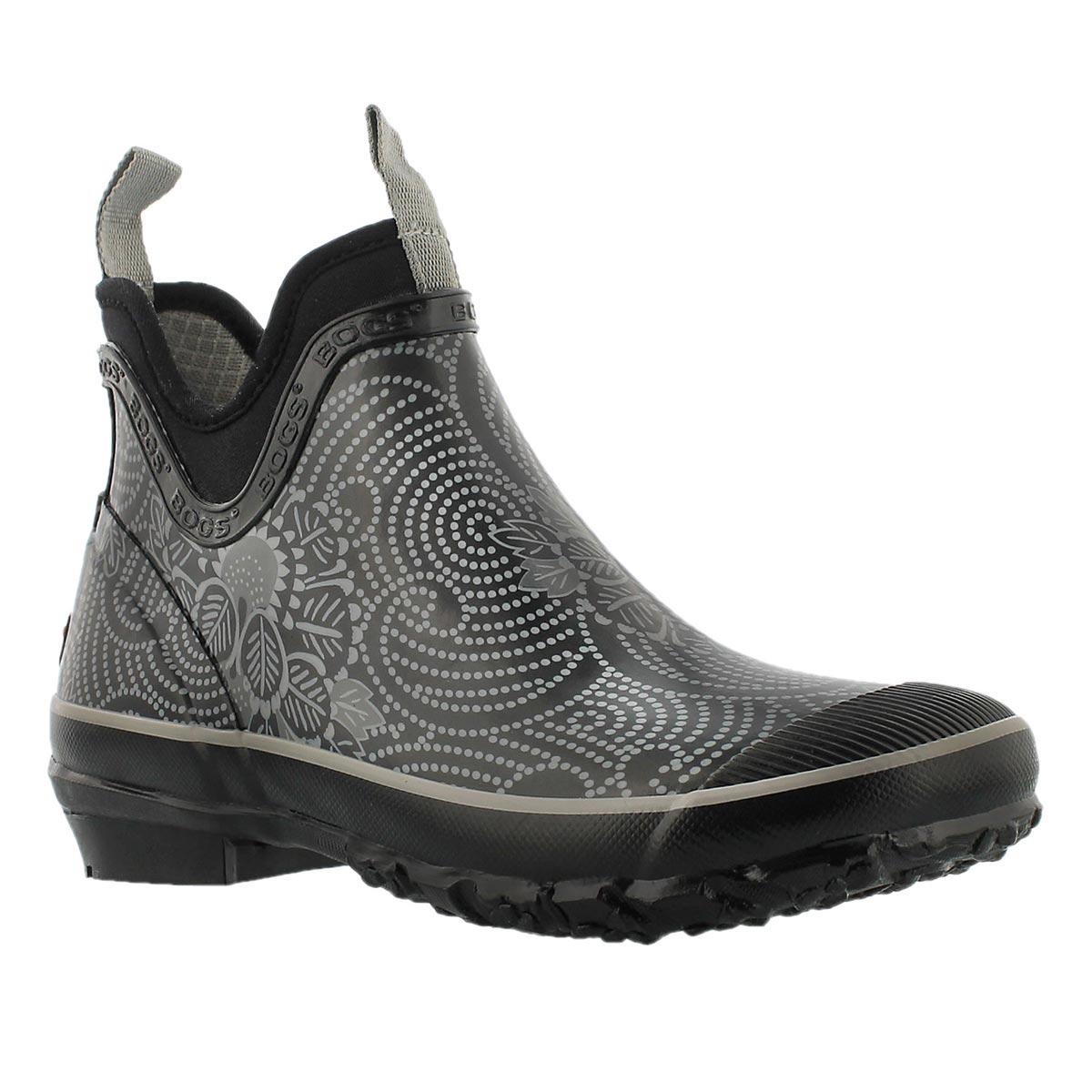 Lds Harper Batik black chelsea rain boot