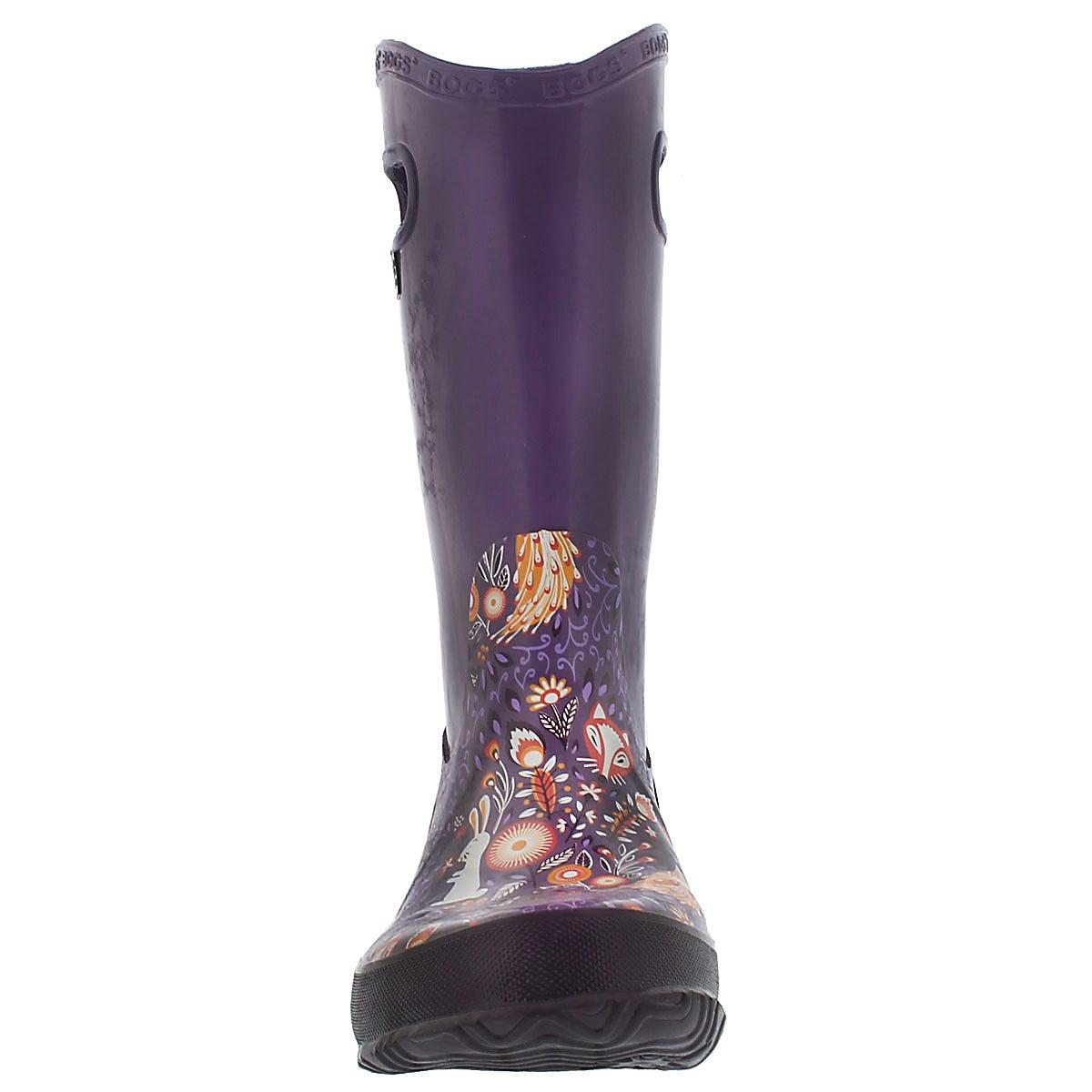 Grls Rainboot Forest grape rain boot