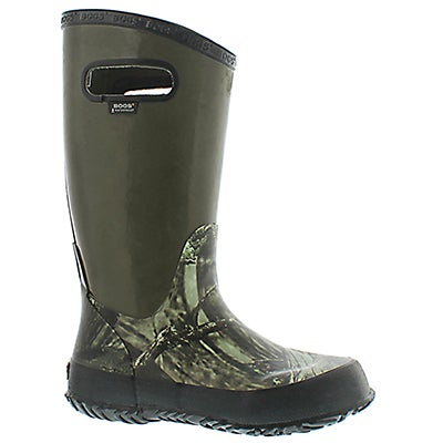 Bogs Boys' HUNTING mossy rain boots