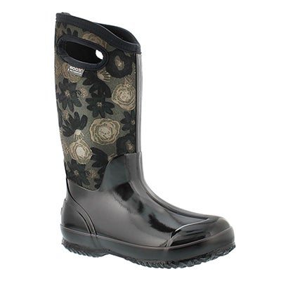 Bogs Women's WATERCOLOR TALL blk multi wtpf boots